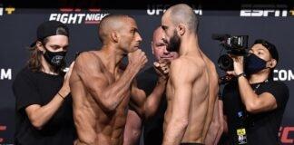 Edson Barboza and Giga Chikadze, UFC Vegas 35 weigh-in