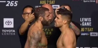 MIchael Chiesa and Vicente Luque, UFC 265