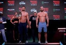 Gegard Mousasi and John Salter, Bellator 264 weigh-in
