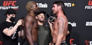Derek Brunson and Darren Till, UFC Vegas 36 weigh-in