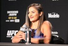 Cynthia Calvillo UFC 266 media day