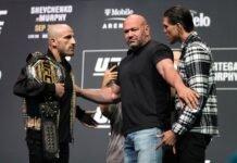 Alexander Volkanovski and Brian Ortega, UFC 266