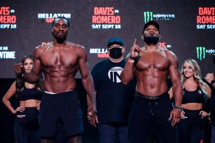 Phil Davis and Yoel Romero, Bellator 266 weigh-in