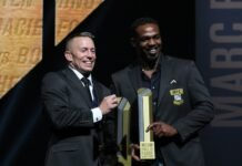 Georges St-Pierre and Jon Jones, UFC Hall of Fame Induction ceremony 2021
