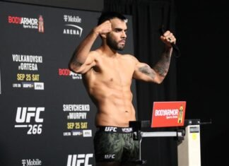 Martin Sano, UFC 266 media day