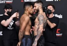 Jonathan Martinez and Marcelo Rojo, UFC Vegas 36 face-off