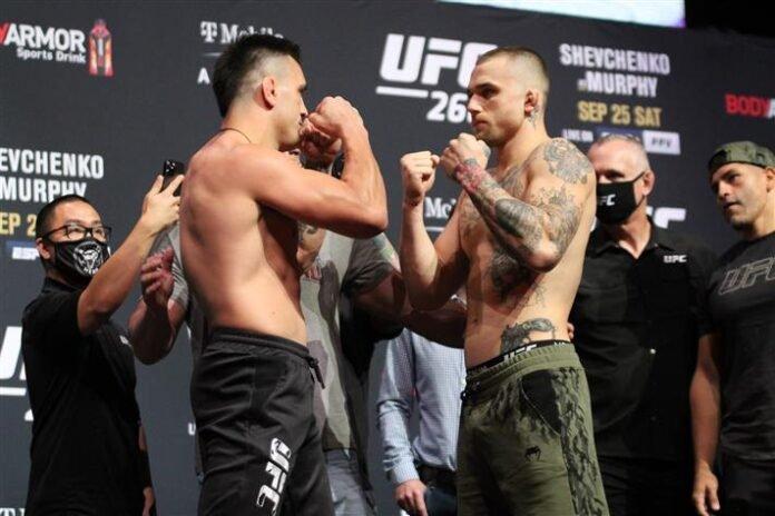 Cody Brundage and Nick Maxiov, UFC 266