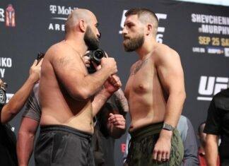 Shamil Abdurakhimov and Chris Daukaus, UFC 266