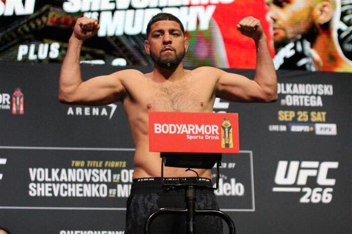 Nick Diaz, UFC 266 weigh-in