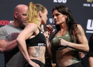 Valentina Shevchenko and Lauren Murphy, UFC 266