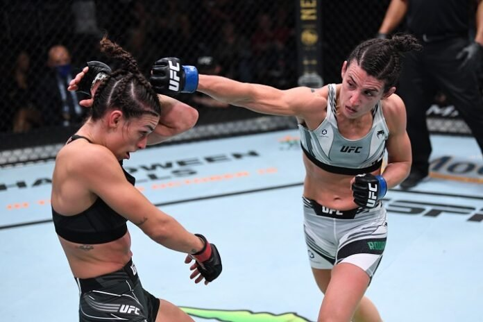 Mackenzie Dern and Marina Rodriguez UFC Vegas 39